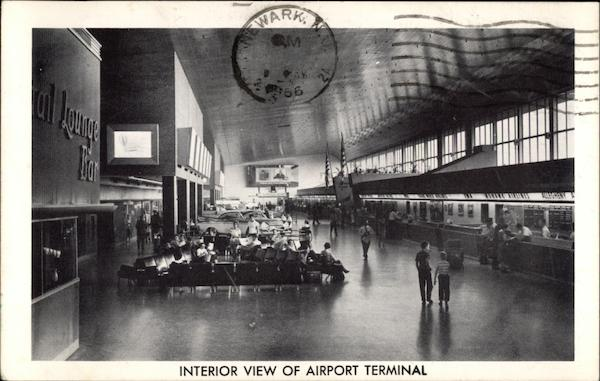 Interior View of Airport Terminal Newark New Jersey