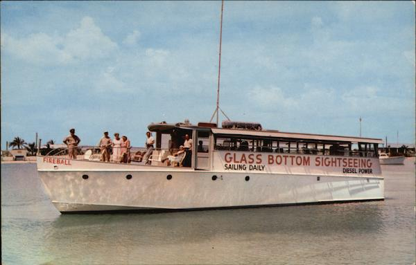 The Fireball, Glass Bottom Sightseeing Boat Key West Florida