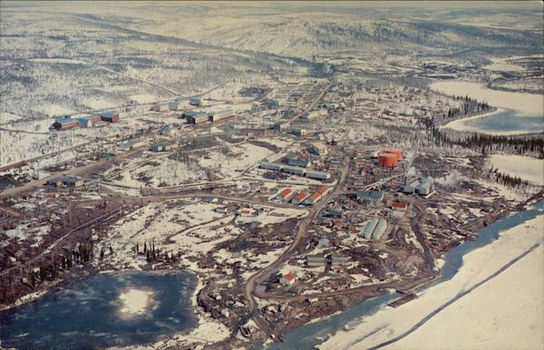 Aerial View showing Hudson's Bay Co Inuvik Canada Misc. Canada