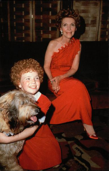 Aileen Quinn of Annie and First Lady Nancy Reagan