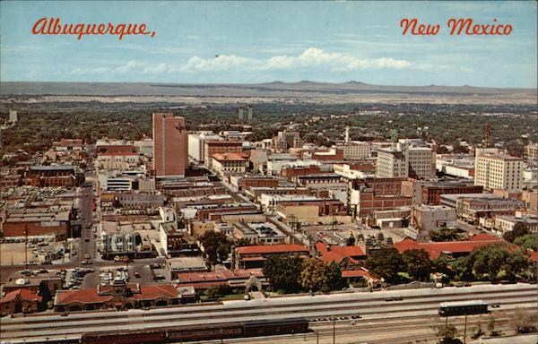 Metropolitan Area Looking West from the Santa Fe Train Station Albuquerque New Mexico
