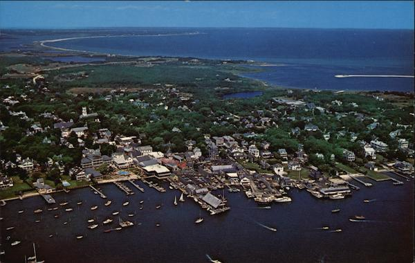 Air View of Edgartown Martha's Vineyard Massachusetts