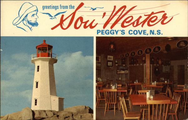 Greetings from the Sou'Wester Peggy's Cove Canada Nova Scotia