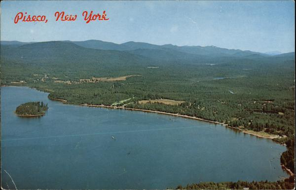 Aerial View of Piseco Lake New York