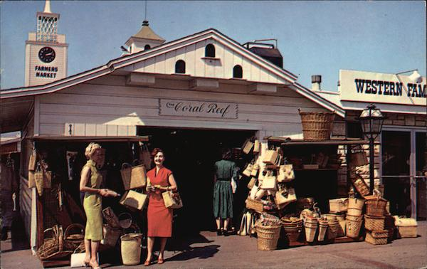 Farmers' Market - One of the fine gift shops in this fabulous mecca for tourists Los Angeles California