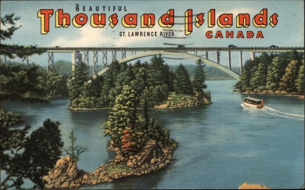 Thousands Islands - St. Lawrence River Canada Misc. Canada