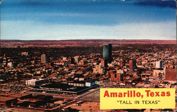 Tall in Texas - Aerial View of City Amarillo