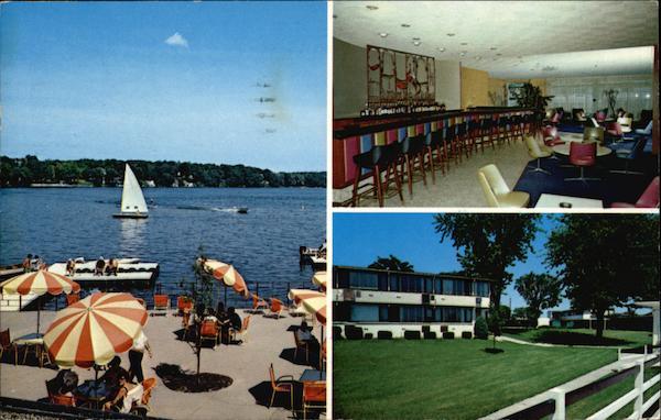 Three Views of Brown's Lake Resort in Burlington, Wisconsin