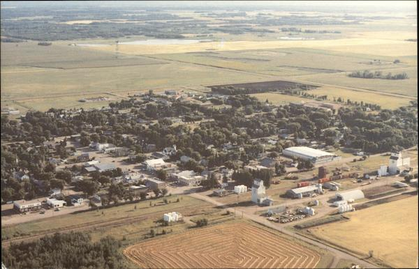 Aerial View of Glenboro and Redcoat Trail Canada Manitoba
