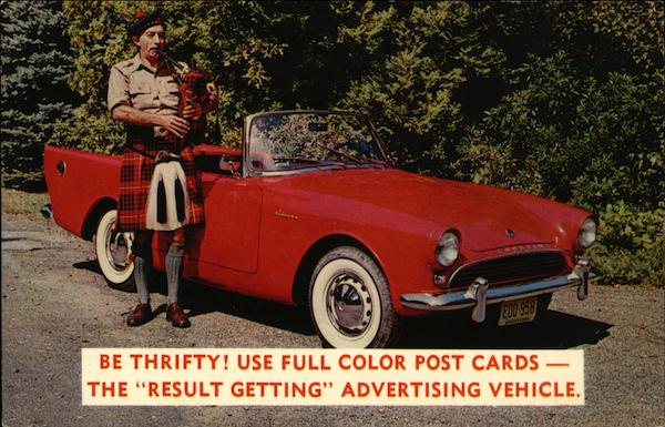 Be Thrifty! Use Full Color Post Cards Advertising