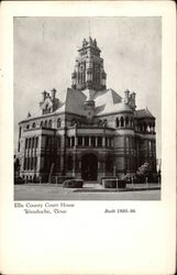Ellis County Court House Postcard