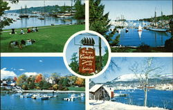 The Four Seasons of Camden Harbor Postcard