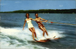 Water Skiers on Lake Keuka