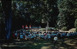 Bok Amphitheater with production of King Henry VIII by Camden Hills Theatre Group Postcard