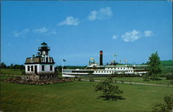 Shelburne Museum - Colchester Reef Lighthouse and S.S. Ticonderoga