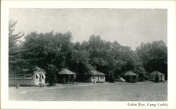 Cabin Row - Camp Corbly - General view of the campus and campers' quarters