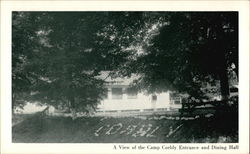 A View of the Camp Corbly Entrance and Dining Hall