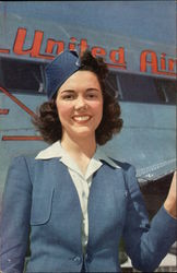 United Airlines Stewardess