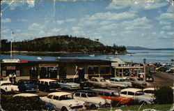 Municipal Pier and Frenchman's Bay at Bar Harbor