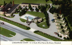 Chesapeake Court - US Route 40 at Havre De Grace, Maryland Postcard