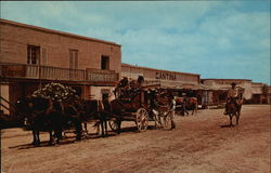 Alamo Village - Stagecoach Leaving Main Street