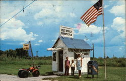 Smallest Post Office Building in the US Postcard