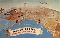Map of Alaska and Pacific Northwest