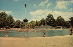 Forest Park - Swimming Pool Postcard