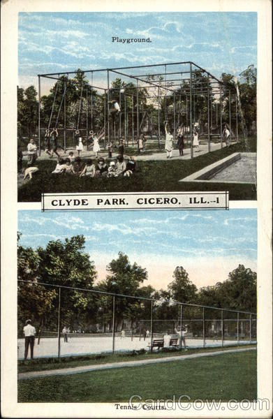 Clyde Park Playground, Tennis Courts Cicero Illinois