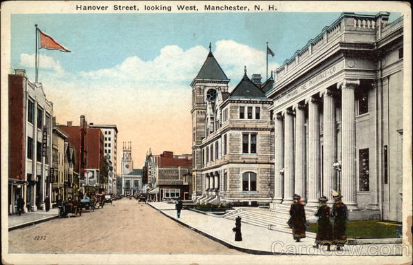 Hanover Street, Looking West Manchester New Hampshire