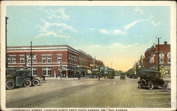 Commercial Street Looking North from Sixth Avenue Emporia Kansas
