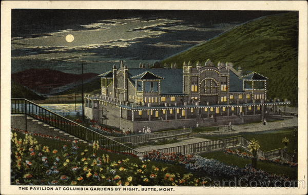 The Pavilion at Columbia Gardens by Night Butte Montana