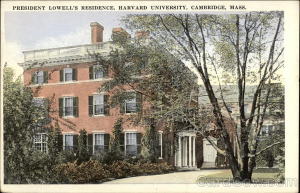 President Lowell's Residence at Harvard University Cambridge Massachusetts