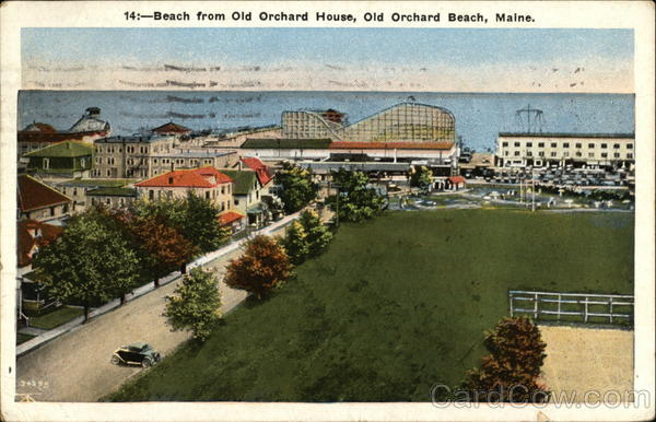 Beach View from Old Orchard House Old Orchard Beach Maine