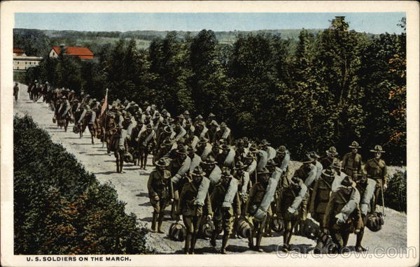 U. S. Soldiers on the March Military