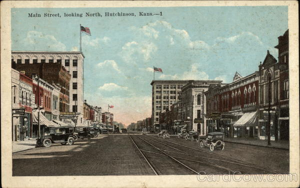 Main Street, Looking North Hutchinson Kansas