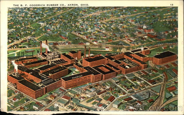 The Bf Goodrich Rubber Company Akron Oh