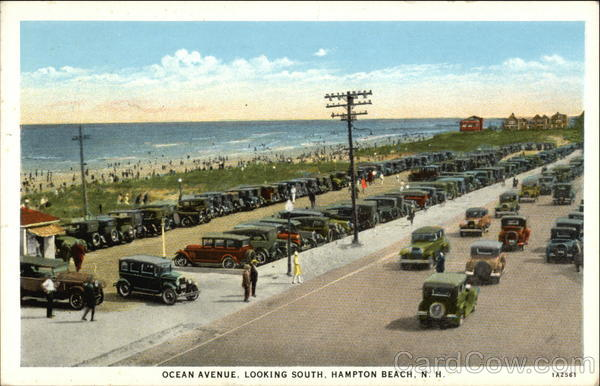 Ocean Avenue, Looking South Hampton Beach New Hampshire