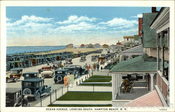 Ocean Avenue Looking South Hampton Beach New Hampshire