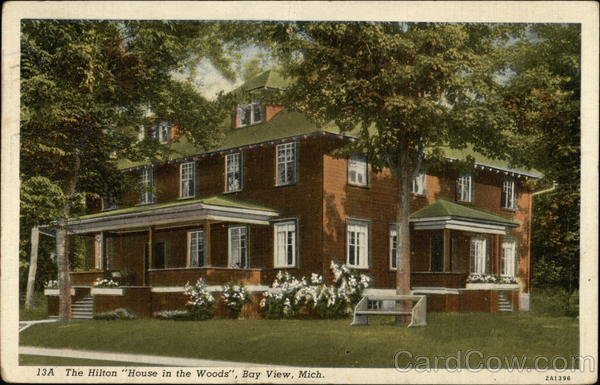 The Hilton House In The Woods Bay View Michigan