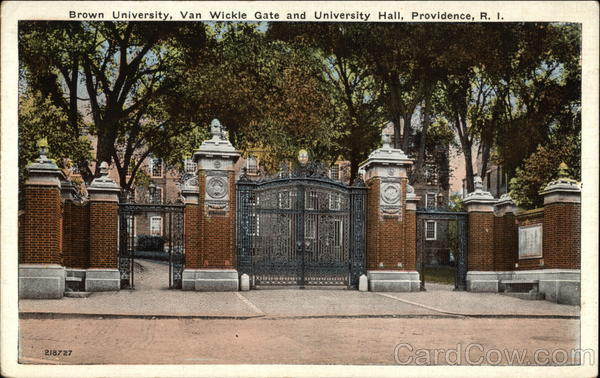 Brown University - Van Wickle Gate and University Hall Providence Rhode Island