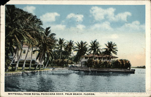 Whitehall from Royal Poinciana Dock Palm Beach Florida
