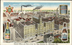 General Offices and Plant of the Val. Blatz Brewing Co Postcard