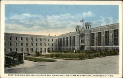 Court Showing New Cell Building and Dining Hall, Mo. State Penitentiary