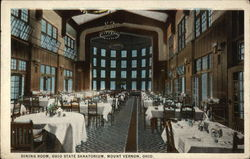 Dining Room at the Ohio State Sanatorium