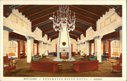 West Lounge, Edgewater Beach Hotel Postcard
