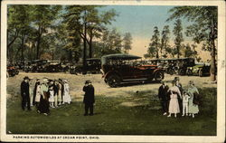 Parking Automobiles Postcard