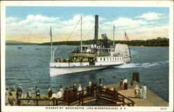 Steamer Mt. Washington On Lake Winnepesaukee