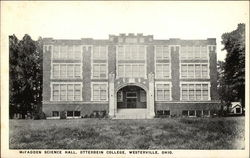 McFadden Science Hall at Ottervein College Postcard