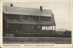 Residence of J.F. Wellington